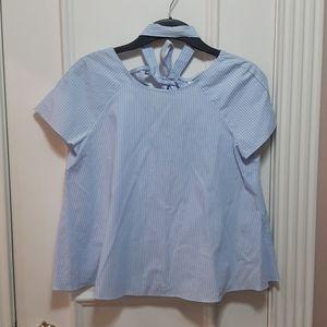 🛍NWOT Zara blue and white striped shirt